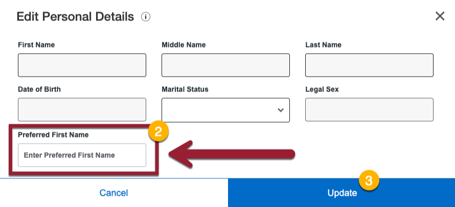 Set your preferred name and choose save