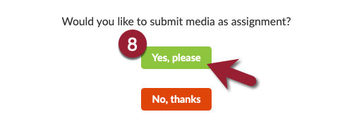 """Click on """"yes, please"""" to confirm your submission"""